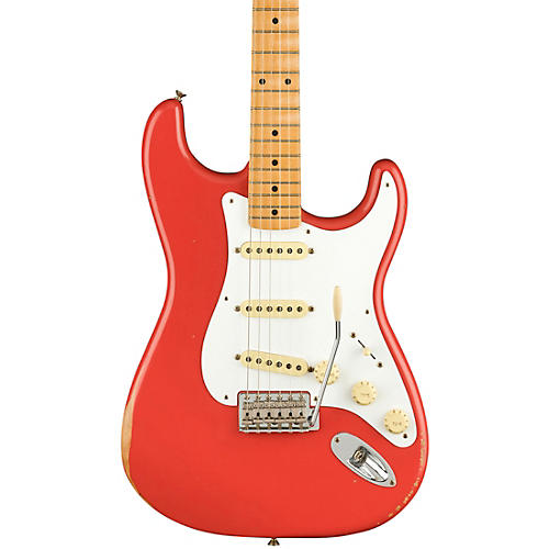 Fender Road Worn Limited Edition '50s Stratocaster Electric Guitar Fiesta Red