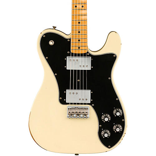 Fender Road Worn Limited Edition '70s Telecaster Deluxe Electric Guitar Olympic White