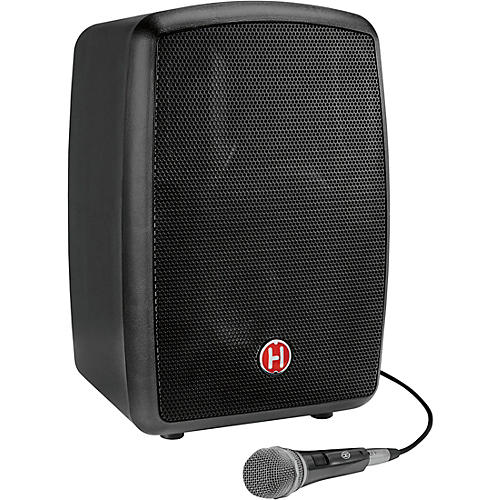 Harbinger RoadTrip 25 8 in. Battery-Powered Portable Speaker With Bluetooth and Microphone Black