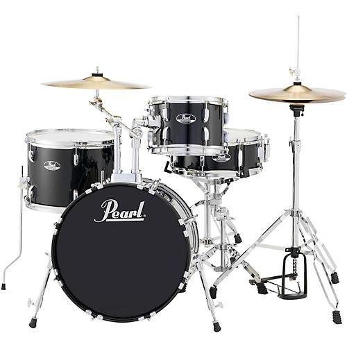 Pearl Roadshow 4-Piece Jazz Drum Set Jet Black