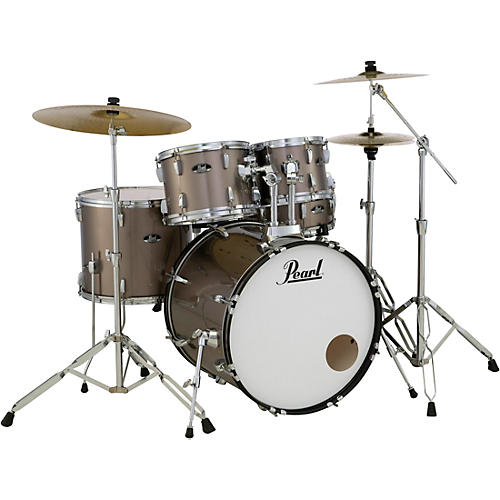 Pearl Roadshow 5-Piece Drum Set with Hardware and Zildjian Planet Z Cymbals Bronze Metallic