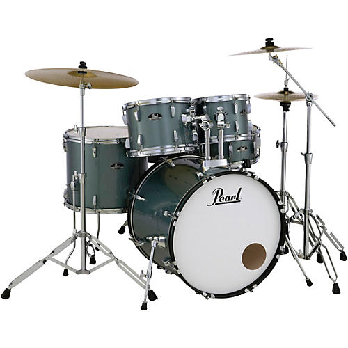 Pearl Roadshow 5-Piece Drum Set with Hardware and Zildjian Planet Z Cymbals Charcoal