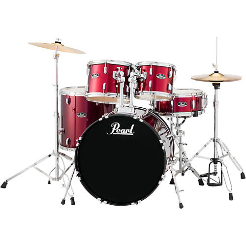 Pearl Roadshow 5-Piece New Fusion Drum Set Wine Red