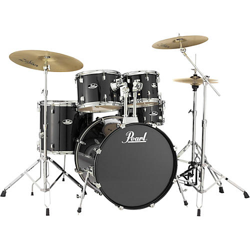 pearl roadshow complete 5 piece drum set with hardware and zildjian planet z cymbals musician. Black Bedroom Furniture Sets. Home Design Ideas