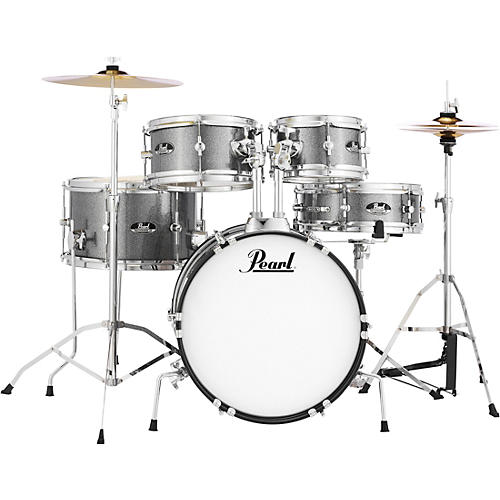 Pearl Roadshow Jr. Drum Set with Hardware and Cymbals Grindstone Sparkle