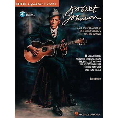 Hal Leonard Robert Johnson Guitar Signature Licks Book with CD