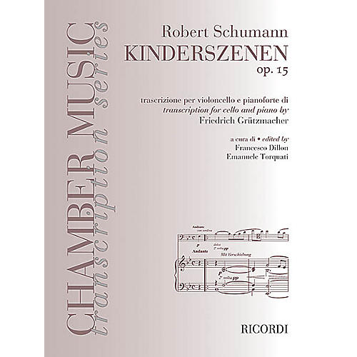 Ricordi Robert Schumann - Kinderszenen, Op. 15 (Cello and Piano) MGB Series Softcover