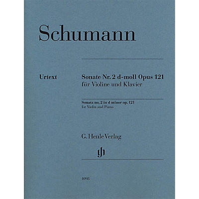 G. Henle Verlag Robert Schumann - Violin Sonata No. 2 in D minor, Op. 121 Henle Music Folios Softcover by Robert Schumann