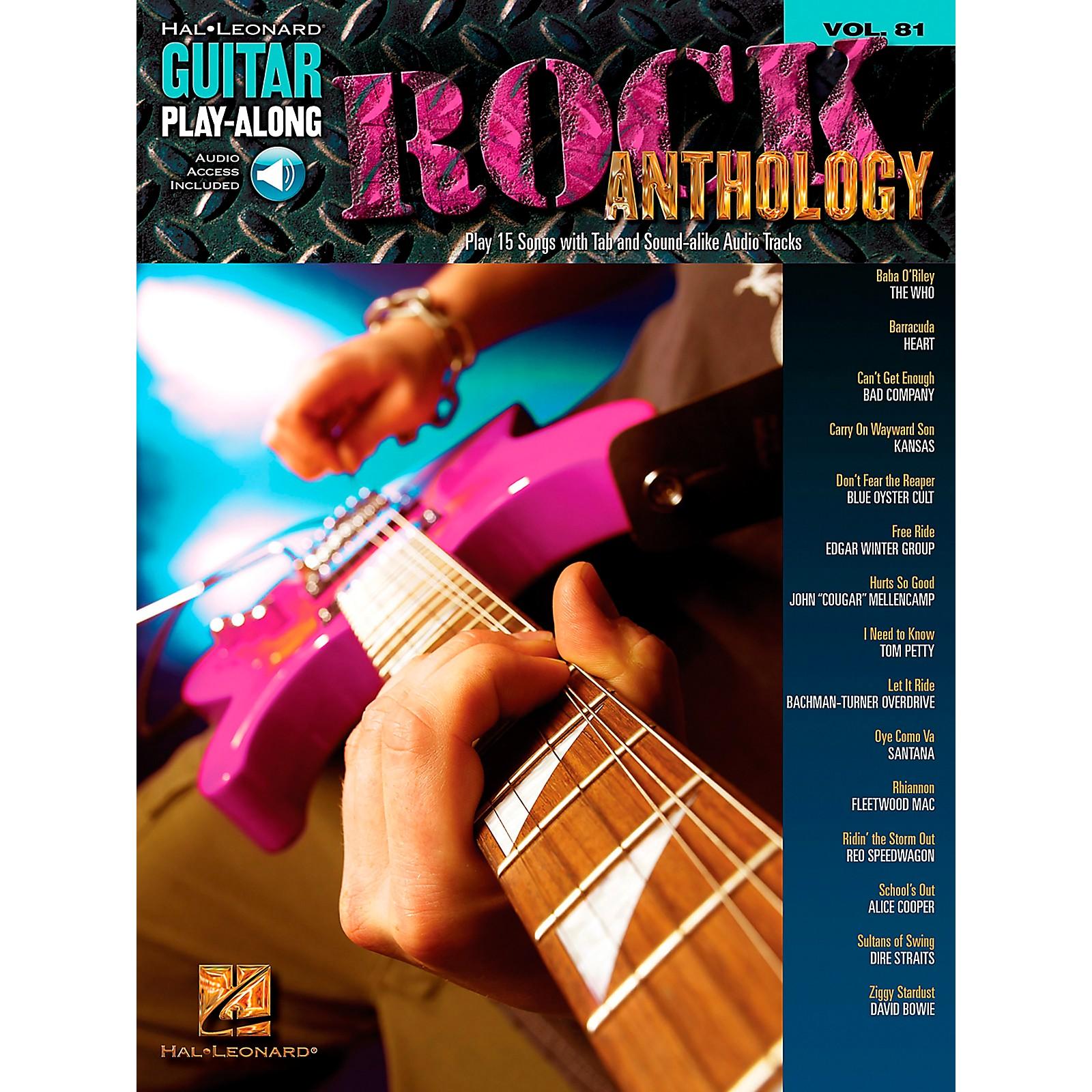 Hal Leonard Rock Anthology - Guitar Play-Along Series, Volume 81 (Book/CD)