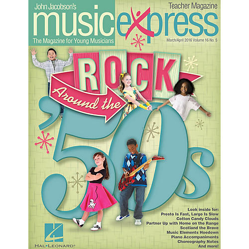 Hal Leonard Rock Around the '50s (March/April 2016) PREMIUM COMPLETE PAK by Ritchie Valens Arranged by Roger Emerson