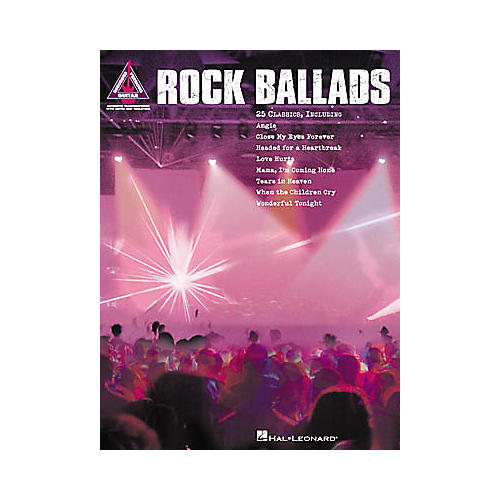 Hal Leonard Rock Ballads Guitar Tab Book
