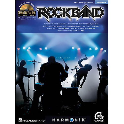 Hal Leonard Rock Band - Piano Play-Along Volume 71 (CD/Pkg) arranged for piano, vocal, and guitar (P/V/G)