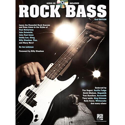 Hal Leonard Rock Bass - 2nd Edition Bass Instruction Series Softcover with CD Written by Jon Liebman