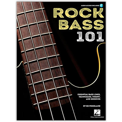 Hal Leonard Rock Bass 101 - Essential Bass Lines, Techniques, Theory and Grooves Book/Audio Online