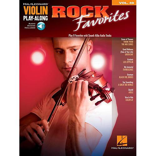 Hal Leonard Rock Favorites - Violin Play-Along Volume 49 Book/Online Audio