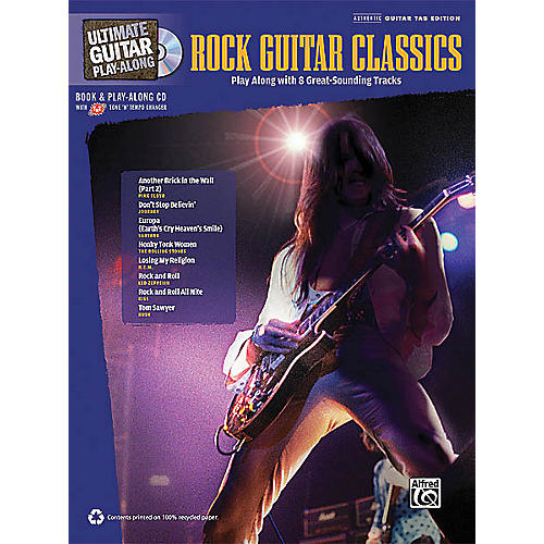 Hal Leonard Rock Guitar Classics (Ultimate Guitar Play-Along) Guitar Book Series Softcover with CD by Various