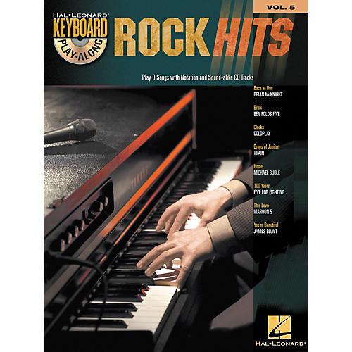Hal Leonard Rock Hits - Keyboard Play-Along Series Volume 5 Book and CD