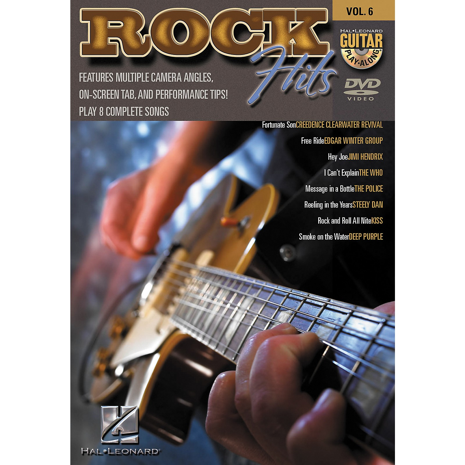 Hal Leonard Rock Hits Guitar Play-Along Series DVD with Tab