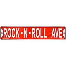 AIM Rock-N-Roll Avenue Street Sign