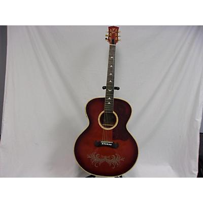 Esteban Rock On Amber Ice Acoustic Electric Guitar