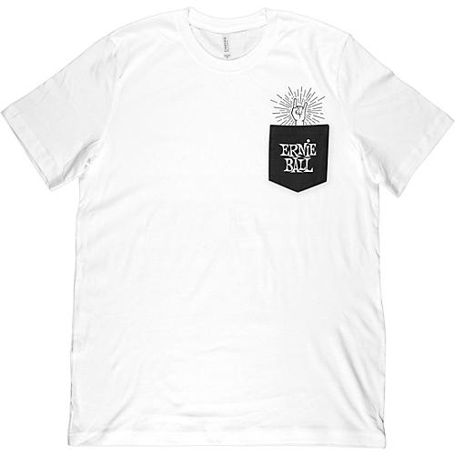 Ernie Ball Rock-On Pocket T-Shirt Medium White