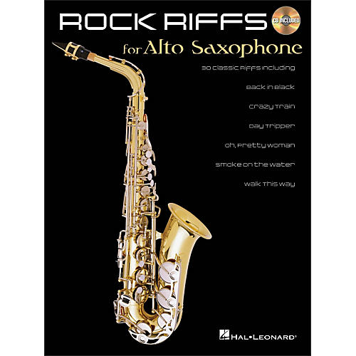 Hal Leonard Rock Riffs for Alto Sax Book/CD