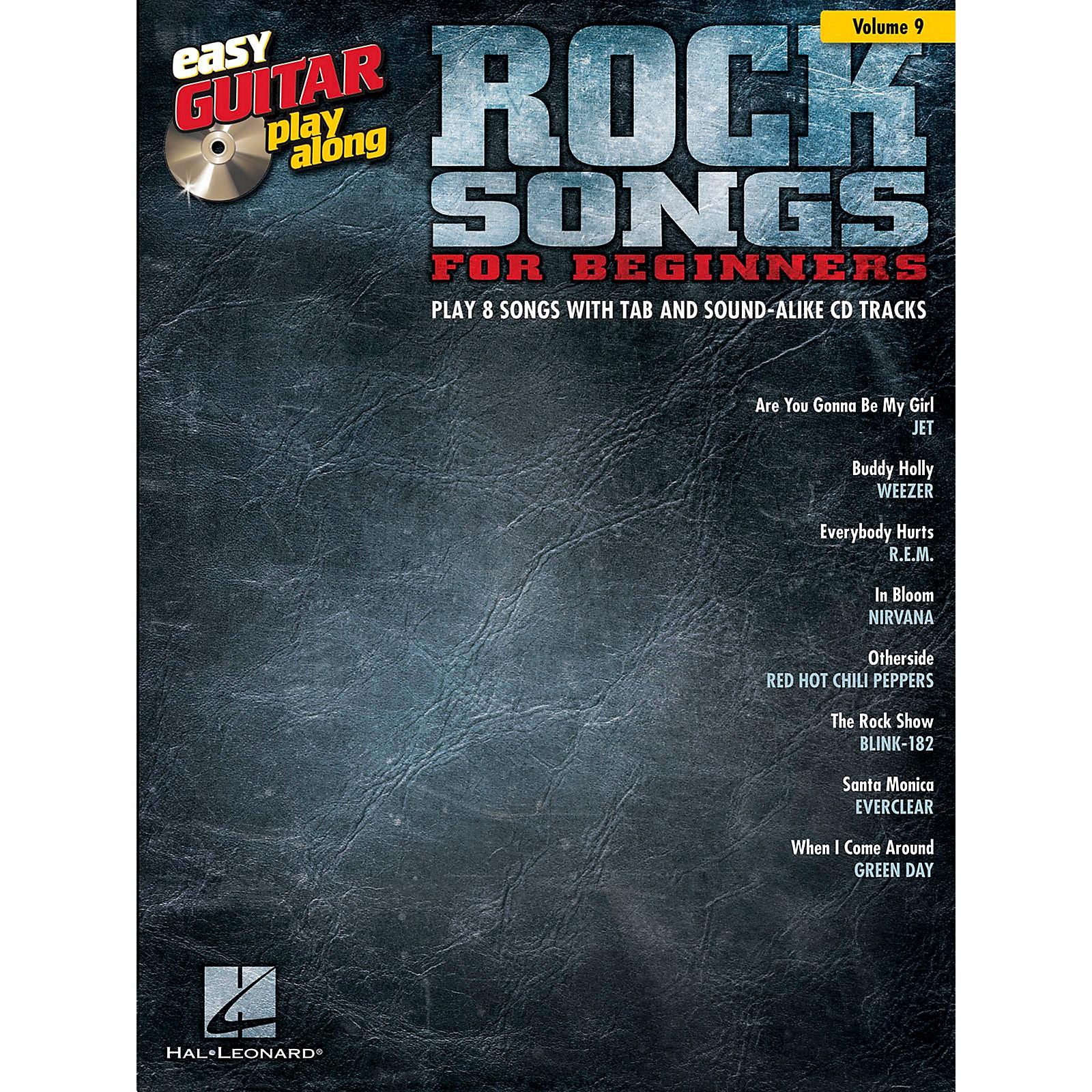 Hal Leonard Rock Songs For Beginners - Easy Guitar Play-Along Volume 9 Book/CD