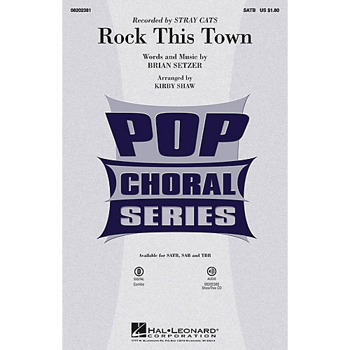 Hal Leonard Rock This Town ShowTrax CD by Stray Cats Arranged by Kirby Shaw