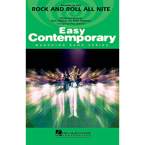 Hal Leonard Rock and Roll All Nite Marching Band Level 2-3 by Jamiroquai Composed by Paul Stanley