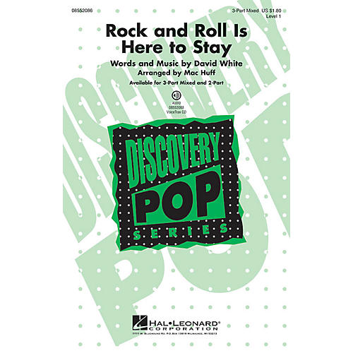 Hal Leonard Rock and Roll Is Here to Stay (Discovery Level 1) 2-Part by Danny and the Juniors Arranged by Mac Huff