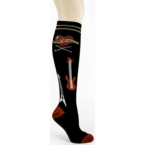 Foot Traffic Rock n' Roll Knee High Socks