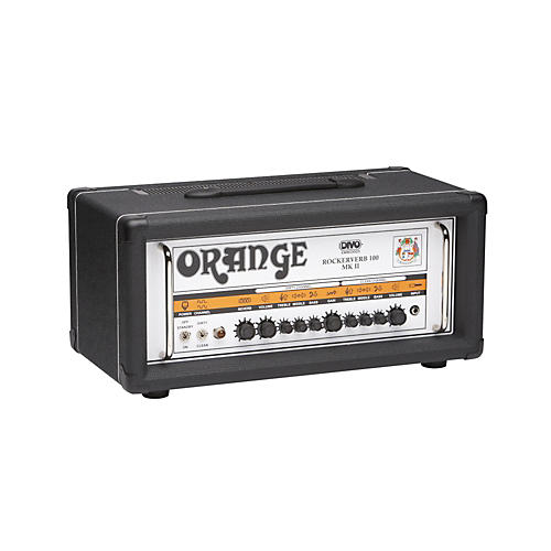 orange amplifiers rockerverb rk100h mkii 100w divo fitted tube guitar amp head black musician. Black Bedroom Furniture Sets. Home Design Ideas