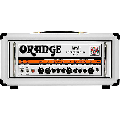 Orange Amplifiers Rockerverb RK100H MKII DIVO 100W Fitted Tube Guitar Amp Head in Limited Edition White