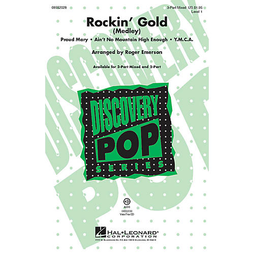 Hal Leonard Rockin' Gold (Medley) VoiceTrax CD Arranged by Roger Emerson