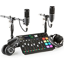 Rode Rodecaster Pro 2 Person Podcasting Bundle With AT2020 & ATHM50X