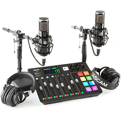 Rode Rodecaster Pro 2 Person Podcasting Bundle With SP150 & TH300X