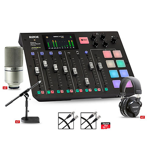 Rode Rodecaster Pro 2 Person Podcasting Bundle with MXL990 & TH200X