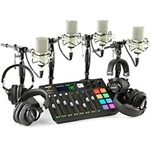 Rode Rodecaster Pro 4 Person Podcasting Bundle With MXL990 & TH200X