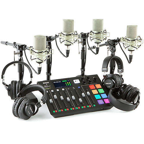 Rode Rodecaster Pro 4-Person Podcasting Bundle With MXL990 & TH200X
