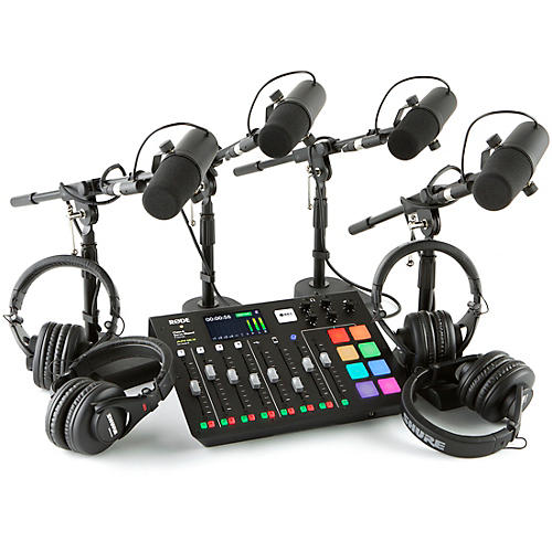Rode Rodecaster Pro 4-Person Podcasting Bundle With SM7B & SRH440