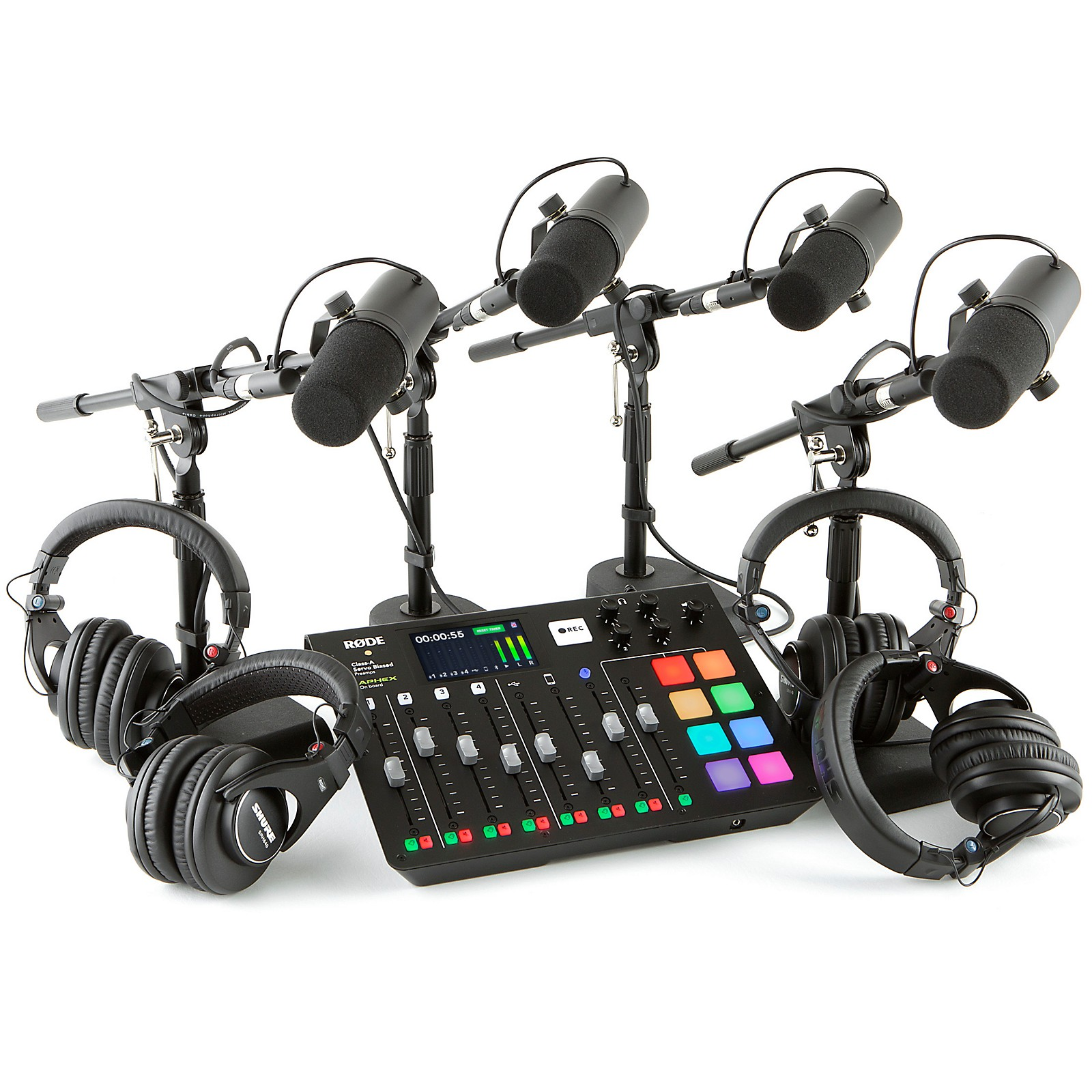 Rode Rodecaster Pro 4 Person Podcasting Bundle With SM7B & SRH840