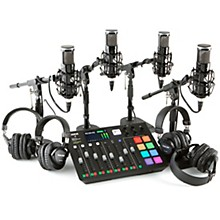 Rode Rodecaster Pro 4 Person Podcasting Bundle With SP150 &TH300X