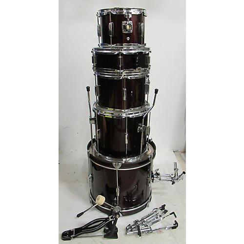 Rogue Rogue 5-Piece Complete Drum Set Drum Kit Wine Red