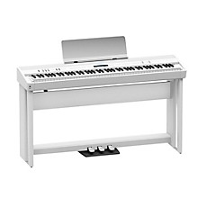 Roland Roland FP-90 Digital Piano Black with Stand and Pedal Board White