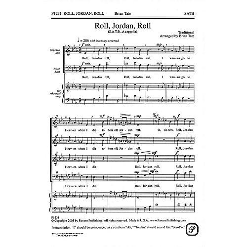 Pavane Roll, Jordan, Roll SATB a cappella arranged by Brian Tate