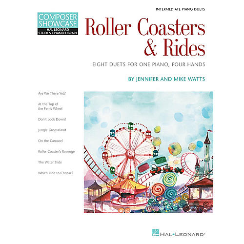 Hal Leonard Roller Coasters & Rides Piano Library Series Book by Jennifer Watts (Level Inter)
