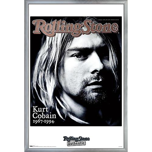 Trends International Rolling Stone - Kurt Cobain Poster Framed Silver