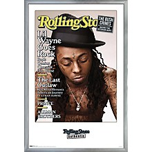 Rolling Stone - Lil Wayne Poster Framed Silver