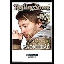 Rolling Stone - Radiohead Poster Framed Black
