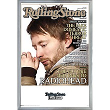 Rolling Stone - Radiohead Poster Framed Silver